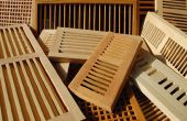 Espèces en bois pour les registres de plancher