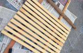 Recyclé tapis de douche en bois Portable