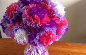Fleurs de papier de soie simple
