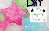 Étoiles de bricolage papier 3D