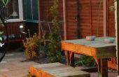 Banc et tabourets de jardin
