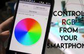 SmartPhone sous contrôle RGB lumière d'ambiance