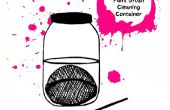 Créez votre propre peinture brosse nettoyage conteneur