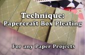 Comment faire Papercraft coffret plissage