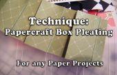 Comment faire Papercraft coffret plissage