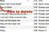 Comment faire pour supprimer toutes les chansons avec point d'Exclamation dans iTunes Mac 12