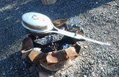 Allumées Popcornmaker camping - de la béquille en aluminium