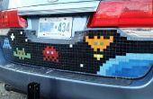 Mosaïque carrelage Pixel Art voiture