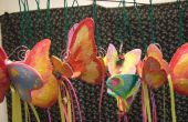 Papier mâché papillons