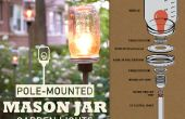 Feux de mât Mason Jar jardin