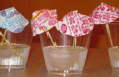 Artisanat d'été pour les enfants : Dum Dums boisson parapluies