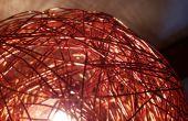Boule de fil de cuivre lampe