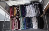 Parfaitement organisés des vêtements dans les tiroirs