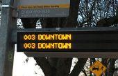 Horloge LED Transit - ne manquez jamais le Bus encore une fois !