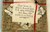 Carte de Valentine sac papier
