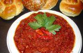 Comment faire marocain chaud sauce (Matbucha)
