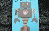 Carte de Saint Valentin robot pulsation