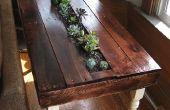 Table d'appoint succulentes palette