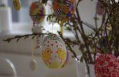 Peint les coquilles de œufs de Pâques