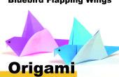 Comment Origami un battement oiseau bleu