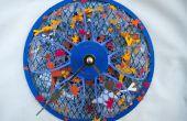 Horloge de papercraft étang Koi