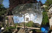 Faire un plat parabolique solaire d'une feuille de plastique de 8 par 4 (sans trop de déchets)