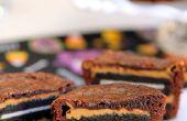 """Oreo et beurre d'arachide """"brownie"""" gâteaux"""