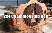 2 x 4 Championship Wrestling ceinture