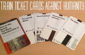 Train billet cartes contre l'humanité