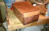 Couture et une boîte à outils en cuir compressible d'outillage