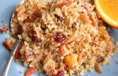 Quinoa aux amandes grillées, canneberges et abricots