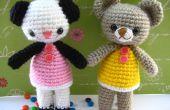 Amigurumi crochet pattern deux petit ours Amanda et Annie