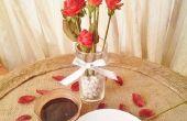 Roses aux fraises tableau pièce maîtresse et Starter