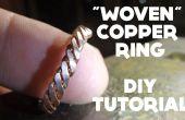 « Tissé » cuivre Ring - DIY tutoriel