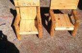 Chaise du bois rustique journal des enfants récupéré