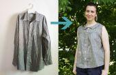 Upcycle une chemise d'homme dans un été rétro Blouse