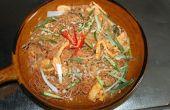 Me Grob-Fried nouilles de riz à la sauce aigre-douce
