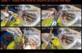 Comment nettoyer les crevettes entières / crevettes - (couper, shell, déveiner & nettoyer)