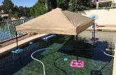 Couvert/Gazebo (également connu sous le nom un EZ-UP) flotter pour la piscine ou le lac pour pas cher