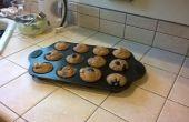 Muffins aux bleuets étape par étape