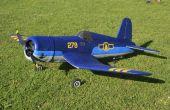 RC modèle Corsair F4U fait de Depron
