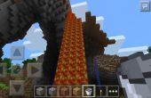 La collecte de lave sur Minecraft Pocket Edition