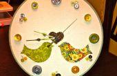 Cercle à broder horloge