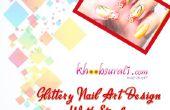 Glittery Nail Art avec des traits