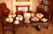 Nourriture de miniatures en pâte à sel