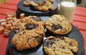 Biscuits à l'avoine au Caramel au chocolat