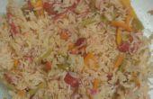 Simple riz légumes micro-ondes