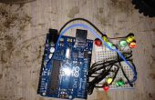 Feu de circulation, 9 a conduit à l'aide d'Arduino Uno