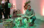 Super jouet stockage UpCycled Set héros thématiques pour enfants d'un Kit de batterie