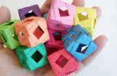 Cube (Origami modulaire) de la fenêtre de diamant
